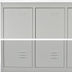 Klädskåp, 2 dörrar, 1820x600x500, RAL7035, omonterat