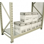 Lagerhylla följesektion 2500x1400x600 600kg/hyllplan,3 hyllor