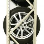 Däckställ, komplett för en 40-fots container, 288 däck