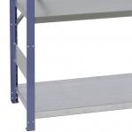 Lagerhylla startsektion 2100x1000x500 200kg/hyllplan,5 hyllor, blå/galv