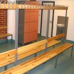 Dubbelsidig bänk med 16 krokar, 1700x1200x770