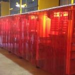 PVC Svetsridå röd 2x300mm/meter