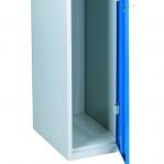 Blå/Grå Klädskåp 1 dörr 1920x350x550