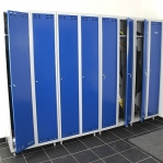 Blå/Grå, klädskåp 2dörr 1920x700x550
