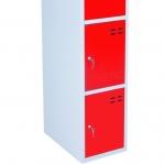 Förvaringsskåp, röd/grå 4-fack 1920x350x550