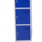 Förvaringsskåp, blå/grå 5-fack 1920x350x550