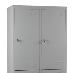 Klädskåp,4 dörrar, 1820x800x500 RAL7035, omonterat