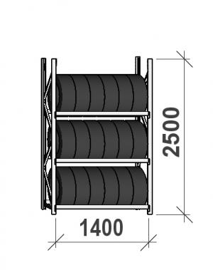 Starter Bay 2500x1400x500, 3 levels