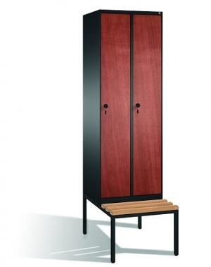 Skåp,2x300 MDF dörrar, med bänk 2090x610x815