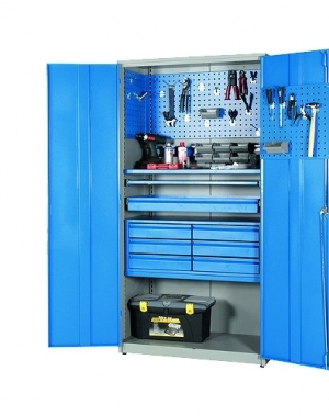 Workshop cabinet 2000x1020x540 RAL 7035/5010