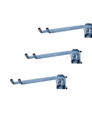 Double hook 250x20 mm, 3 pcs
