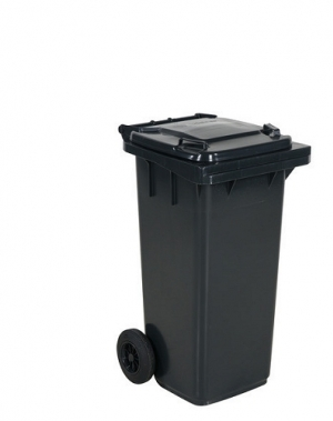 Avfallskärl 120L, svart/mörkgrå