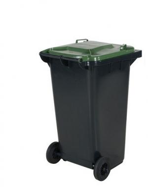 Avfallskärl 240L, svart/grön