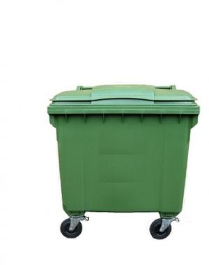 Avfallskärl 660L, grön