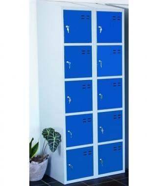 Förvaringsskåp, blå/grå 10-fa 1920x700x550