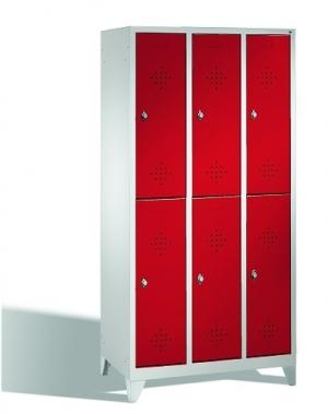 2-tier locker, 6 doors, 1850x900x500 mm