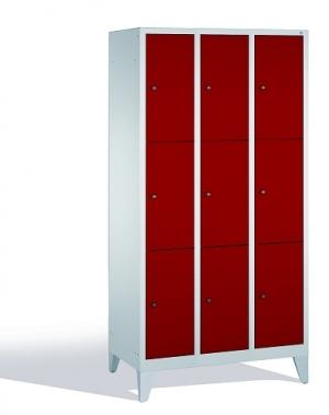 3-tier locker, 9 doors, 1850x900x500 mm
