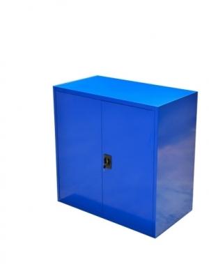 Verkstadsskåp, 2 hyllor, 1000x1000x500, blå, hopfällbar