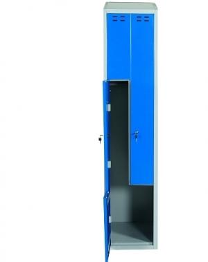 Klädskåp, blå/grå 2 d/Z-modell 1920x400x550