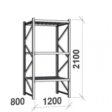 Maxi starter bay 2100x1200x800 600kg/level,3 levels with steel decks