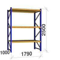 Starter bay 2500x1790x1000 360 kg/level, 3 levels with chipboard