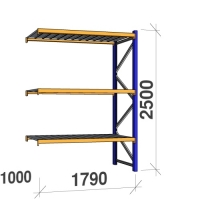 Extension bay 2500x1790x1000 360 kg/level,3 levels with steel decks