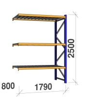 Extension bay 2500x1790x800 360kg/level,3 levels with steel decks