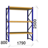 Starter bay 2500x1790x800 360kg/level,3 levels with chipboard