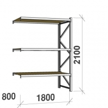 Extension bay 2100x1800x800 480kg/level,3 levels with chipboard