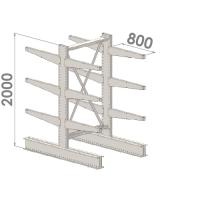 Grenställ startsektion 2000x1000x2x800,12 x arm