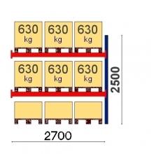 Add On Bay 2500x2700, 630kg/pallet, 9 EUR pallets