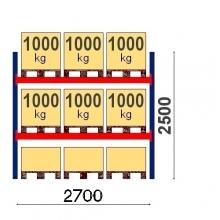 Starter Bay 2500x2700 1000kg/pallet, 9 EUR pallets