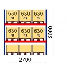 Starter Bay 3000x2700 630kg/pallet, 9 EUR pallets