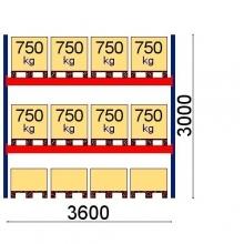 Starter Bay 3000x3600 750kg/pallet, 12 EUR pallets