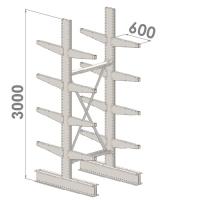 Grenställ startsektion 3000x1000x2x600,16 x arm