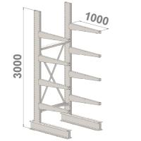 Grenställ startsektion 3000x1000x1000,8 x arm