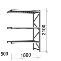 Maxi extension bay 2100x1800x500 480kg/level,3 levels with steel decks