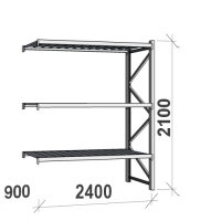 Maxi extension bay 2100x2400x900 300kg/level,3 levels with steel deck