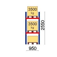 Pallställ startsektion 2550x950 3500kg/3 pallar