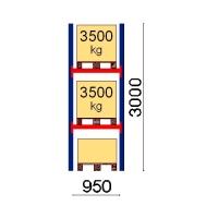 Pallställ startsektion 3000x950 3500kg/3 pallar