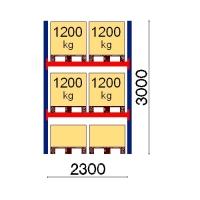 Pallställ startsektion 3000x2300 1200kg/6 pallar