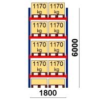 Pallställ startsektion 6000x1800 1170kg/10 pallar