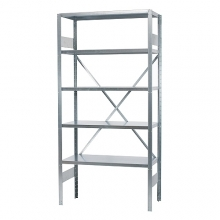 Starter bay 2500x1000x600, used, 5 shelves