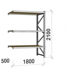 Extension bay 2100x1800x500 480kg/level,3 levels with chipboard