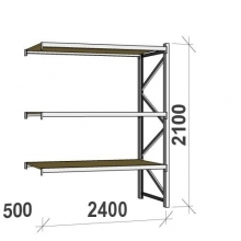 Extension bay 2100x2400x500 300kg/level,3 levels with chipboard