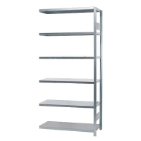 Extension bay 2100x1000x300, used, 6 shelves
