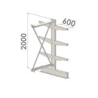 Grenställ följesektion 2000x1500x2x600,6 x arm