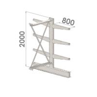Grenställ följesektion 2000x1500x2x800,6 x arm