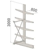 Grenställ följesektion 3000x1500x2x800,8 x arm