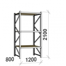 Starter bay 2100x1200x800 600kg/level,3 levels with chipboard